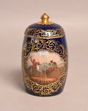 More details for a very attractive antique 19thc dresden german porcelain tea caddy