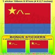 "CHINA Chinese AirForce PLAAF Flag Vinyl Decal Sticker 4"" (100mm) x1+2 BONUS"