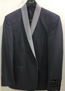 New Mens Falcone Grey Modern Fit 2 Piece Suit with Expanding Waist Pant