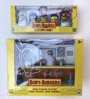 New Bob's Burgers Diner Diorama & Kuchi Kopi Fam Bob Belcher Signed & Sketched
