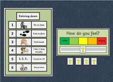Calming Down Poster & My Emotion / My Feelings Scale - Autism / Behaviour / ADHD