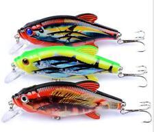 3PCS Bass Crankbaits Fishing Lures 8cm/11g Crank Baits Deep Swim Minnow Bait Tac