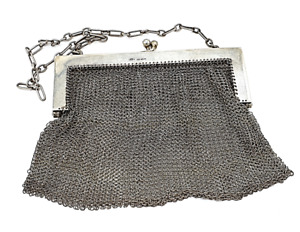 Antique Sterling Silver Mesh Purse! Circa 1911