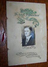 1914 BASIN HILL SCHOOL MIDDLETON TWP CUMBERLAND PA SOUVENIR CLASS YEAR BOOK