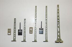 Märklin H0 Tower Mast 7021 Lattice Tower 7524 K+M Track Top Condition