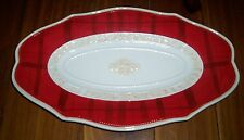 Fitz and Floyd Town & Country Oval Tray Platter Red NIB