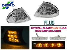 DEPO 99-01 BMW E46 4D/5D CLEAR LCI AMBER LED CORNER SIGNAL CLIP-ON + SIDE MARKER