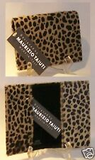 Maurizio Taiuti CALF FUR Cheetah Print Passport Wallet