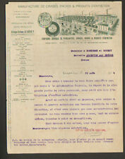 """CLICHY (92) USINE de CIRAGES , ENCRES & PRODUITS D'ENTRETIEN """"LE REVE"""" en 1914"""