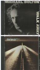 MICHAEL BOLTON rare WALK AWAY + SOUL DRIVER 2 CD's 1988 1992 LIVE