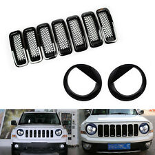Front Grille Mesh Insert Cover Trimangry Bird Headlight Cover For Jeep Patriot Fits 2012 Jeep Patriot