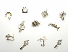 VINTAGE anni 1970 Argento Sterling 925 JOB LOTTO DI Fascino Charms 30.2g LOTTO 2