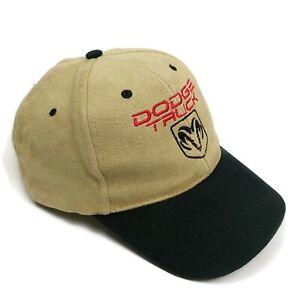 Dodge Truck Black Khaki Baseball Cap Cotton Twill Nissin Buckle Adjustable Hat