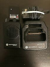 Motorola Minitor V 5 Uhf Band Pager 453-462 Mhz 2-Chan Stored Voice W/Charger