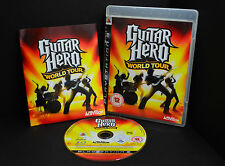 PLAYSTATION 3 GUITAR HERO WORLD TOUR-Game Only (ps3) - 1st Class consegna