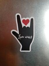 LOVE WINS - Fridge magnet HS KIDS volunteer trip fundraiser