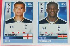 TOT12 13 Dele Alli Wanyama SPURS 2016/2017 Topps Champions League stickers