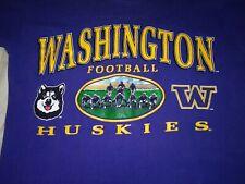 Vtg 80s Washington Huskies T-Shirt Sz M  Purple Tee 👕 by Nutmeg Woof