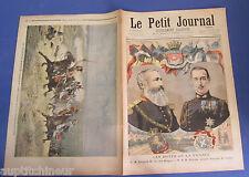 Le petit journal 1895 255 Roi belgique prince grece + général macard