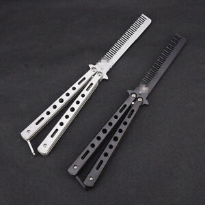 Butterfly Comb Stainless Folding Steel Training Comb Outdoor Camping Blunt Tozh