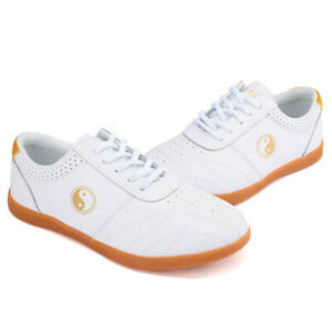 Leather Martial Arts Tai Chi Shoes Trainers Kung Fu Taichi Karate Shoes Sneakers