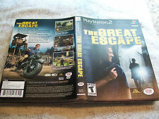 PLAYSTATION 2 INSERT THE GREAT ESCAPE