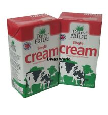 Dairy PRIDE Single Cream Longer Lasting UHT Creams Pack Of 2 X 1 Litre