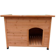 NEW XLarge Size 111*84*86 cm  Classic Log Cabin Timber Dog Kennel House P016L