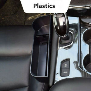 Car Seat Crevice Storage Box Accessories Slot Multi-function Organizer Black ABS