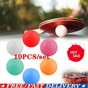 10PCS Pong Balls 40mm Colored Replacement Practice Pong Table Tennis HOT