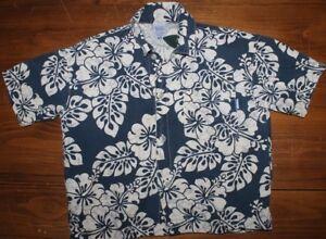 Toddler   US made  Charlie Rocket   Hawaiian   Button up  shirt   4 T   EUC