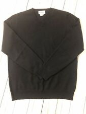 DARTMOOR Men's Size M Black 100% Cashmere V-Neck Sweater