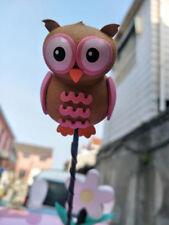 Cute Pink The owl Antenna Balls Car Aerial Ball Antenna Topper Decor & Pen Ball
