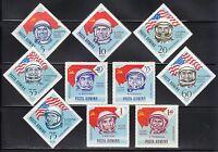 Romania 1964 MNH Sc C151-C160 Mi 2238-2247 Astronauts of USSR & USA **