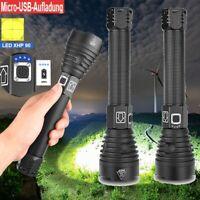 Aluminiumlegierung Taschenlampe XHP90 LED USB Ladeleistungsanzeige 2500LM Zoom
