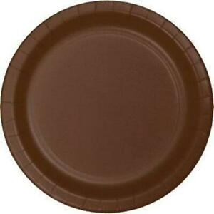 """Brown 7"""" Paper Plates 24 Per Pack Brown Birthday Party Decorations & Supplies"""
