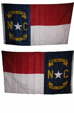 3x5 State of North Carolina 2 Faced 2-ply Wind Resistant Flag 3x5ft Emblem 2ply