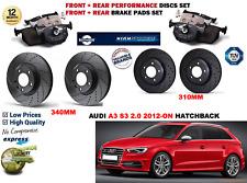 Pour Audi A3 S3 2.0 Hb 2012- avant & Arrière Performance Kit Disque Frein +