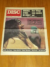 DISC AND MUSIC ECHO JANUARY 29 1972 BYRDS WINGS IAN GILLIAN RON WOOD
