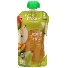 Plum Organics, Organic Baby Food, Stage 2, Pear  Mango, 4 oz, 113 g