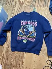 Vintage Starter New York Yankees Crewneck Sweatshirt 1996 World Series - Adult L