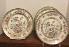"4 Antique Royal Doulton 9"" Plates Gilded Indian Tree E3750 1907-09 Excellent"