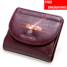 Women Genuine Leather Wallet Slim Card Holder Lady Thin Front Pouch Purse Soft