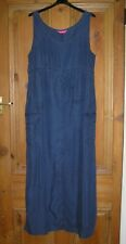 Vintage Richard Shops Summer blue sleeveless full length Dress size 14 Euro 42