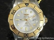 Invicta Mens 47mm Grand Diver 24J Automatic Silver Dial Two-Tone S Steel Watch