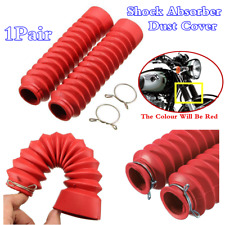 1Pair Red Motorcycle Rubber Front Fork Dust Cover Gaiters Shock Absorber Boots