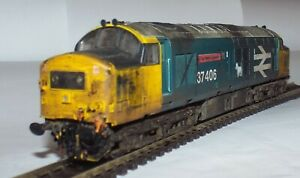VITRAINS CLASS 37 DIESEL LOCOMOTIVE 37406 THE SALTIRE SOCIETY BR BLUE WEATHERED