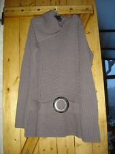 pull taupe grand col avec boucle marque excuse taille 42/44