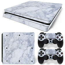 Sony PS4 Playstation 4 Slim Skin Aufkleber Schutzfolie Set - Marble Motiv