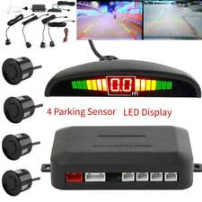 LED Display Car 4 Parking Sensor Reverse Backup Radar Alarm System Kit(Black)